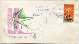 53310 Italia, Special Postmark 1959 Torino Universiade 1959 Pallanuoto,  Water Polo - Water Polo