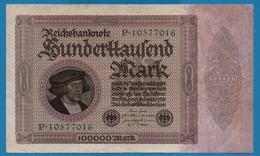 DEUTSCHES REICH 100.000 Mark 01.02.1923# P.10577016  P# 83a - [ 3] 1918-1933 : República De Weimar
