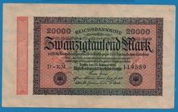 DEUTSCHES REICH 20000 Mark20.02.1923# D-KM 119589  P# 85b - [ 3] 1918-1933 : República De Weimar