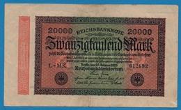 DEUTSCHES REICH 20000 Mark20.02.1923# L-MK 612692  P# 85b - [ 3] 1918-1933 : Weimar Republic