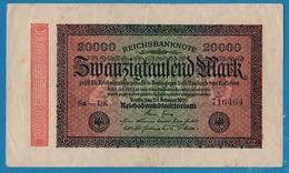 DEUTSCHES REICH 20000 Mark20.02.1923# Sa-DK 716464   P# 85a - [ 3] 1918-1933 : República De Weimar