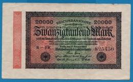 DEUTSCHES REICH 20000 Mark20.02.1923# S-BK 825450  P# 85a - [ 3] 1918-1933 : República De Weimar