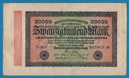 DEUTSCHES REICH 20000 Mark20.02.1923# T-MV 547019*  P# 85a - [ 3] 1918-1933 : Weimar Republic