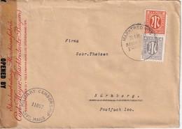 ALLEMAGNE 1946 ZONE ANGLO-AMERICAINE LETTRE CENSUREE DE MARKTREDNITZ - American/British Zone