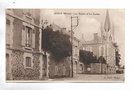 51 - GUEUX ( Marne ) - La Mairie Et Les Ecoles - Autres Communes