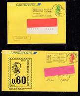 FRANCE 1984/1985 -    LETTREPOSTE Et CARTEPOSTE  Sur Liberté - Curiosidades: 1980-89 Usados