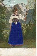 Costume Bernois Berne . Femme Gaufrée Avec Robe Soie . Silk Embossed - Ansichtskarten