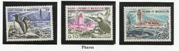SAINT PIERRE ET MIQUELON SPM N° 445 à 447 ** Neufs 1975 Phare Oiseau - St.Pierre Et Miquelon