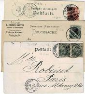 TP N° 53 Et 44 Sur 3 Cartes Postales - Covers & Documents