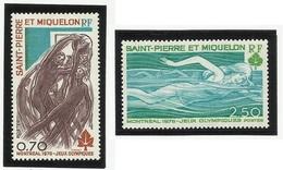 SAINT PIERRE ET MIQUELON SPM N° 450 Et 451 ** Neufs 1976 - Neufs