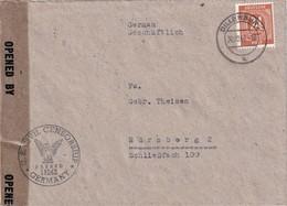ALLEMAGNE  1946  ZONE AAS LETTRE CENSUREE DE DILLENBURG - Gemeinschaftsausgaben