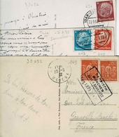 Entre TP N° 149 Et 491 Sur 3 Cartes Postales - Covers & Documents