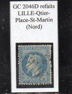 Nord - N° 29B Obl GC 2046D Refaits Lille Quartier-Place-Saint-Martin - 1863-1870 Napoléon III Lauré