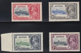 ASCENSION  1935 SILVER JUBILEE  SG 31/34  MLH CV £55 - Ascension