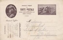 """Carte-Postale """" Général JOFFRE. - Franchise Militaire (timbres)"""