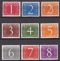 1947 Van Krimpen Cijfer Comlete Postfrisse Serie NVPH 460 / 468 - Unused Stamps