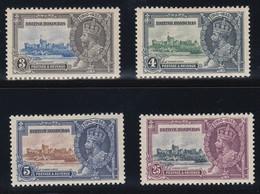 BRITISH HONDURAS  1935 SILVER JUBILEE  SG 143/146  MLH CV £21 - British Honduras (...-1970)