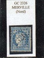 Nord - N° 60C (avec Belle Variété) Obl GC 2326 Merville - 1871-1875 Cérès