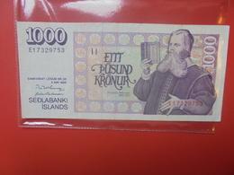 ISLANDE 1000 KRONUR 1986 CIRCULER (B.10) - Islandia