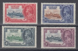 FALKLAND ISLANDS  1935 SILVER JUBILEE  SG 139/142  MNH CV £96 - Islas Malvinas
