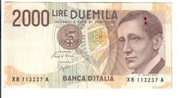 2000 LIRE Guglielmo Marconi Serie Sostitutiva XB 1992 N.C.  LOTTO 2997 - [ 2] 1946-… : República