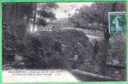 CHARENTON - CYCLONE DU 16 JUIN 1908 - LE COIN DE L'ILE LE PLUS RAVAGE - Charenton Le Pont