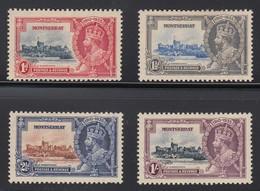 MONTESERRAT  1935 SILVER JUBILEE  SG 94/97  MLH CV £11 - Montserrat