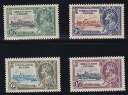 TURKS & CAICOS ISLANDS   1935 SILVER JUBILEE  SG 187/190  MLH CV £9 - Turks And Caicos