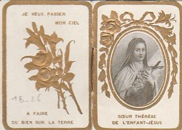 IMAGE RELIGIEUSE - CALENDRIER DE ST THERESE  1920 - Images Religieuses