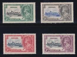 GRENADA   1935 SILVER JUBILEE  SG 145/148  MLH CV £18 - Grenada (...-1974)