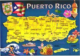 Puerto Rico Land Map - Cartes Géographiques