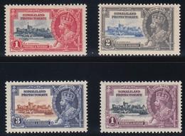SOMALILAND PROTECTORATE    1935 SILVER JUBILEE  SG 86/89  MNH CV £32 - Somalilandia (Protectorado ...-1959)