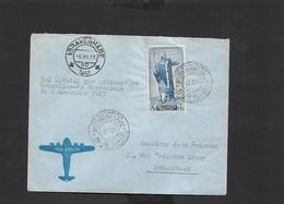Courrier Spécial Par Hélicoptère Bruxelles Gravenhage Du 06/11/1947 - Airmail