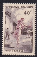 FRANCE 1956 - YT N°1073 - 40 F. Brun Foncé Et Lilas - Série Sportive - Pelote Basque - Neuf** - TTB Etat - France