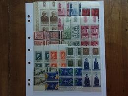 REPUBBLICA - 17 Quartine Anni '50 × 0,20 Cad. Nuovi ** + Spese Postali - 1946-60: Nuovi