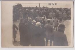 CARTE PHOTO DE BERCK (62) ? : CEREMONIE & REVUE MILITAIRE - GUERRE 1914 - 1918 ? - GENERAL ? - MARECHAL ? - 2 SCANS - - Weltkrieg 1914-18