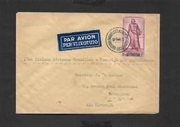 1 Er Liaison Aérienne Bruxelles - Kortrijk Par Parachutage 13/09/1946 - Airmail
