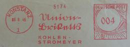 1949 Konstanz - Union Briketts 4174 - Kohlen Strohmeyer - BRD