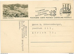 "223 - 55 - Entier Postal Avec Illustration ""Eriswil"" Oblit Mécanique 1954 - Postwaardestukken"