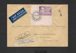 1 Er Liaison Aérienne Bruxelles - Charleroi Par Parachutage 13/09/1946 - Airmail