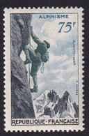 FRANCE 1956 - YT N°1075 - 75 F. Bleu Ardoise Et Vert - Série Sportive - Alpinisme - Neuf** - TTB Etat - France