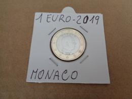 MONETA, PRINCIPATO DI MONACO 2019 - 1 EURO - ALBERTO II -  LEGGI - Monaco