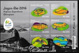 Brazil 2016 Olympic Games Rio De Janeiro Venue Places Souvenir Sheet MNH/** (H35) - Sommer 2016: Rio De Janeiro