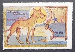 France, WWI Military Vignette, Delandre, Military Trained Dogs - France