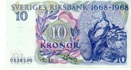 Sweden P.56 10 Kronor 1968 Unc - Zweden