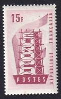 FRANCE 1956 - YT N°1076 - 15 F. Rose Et Grenat - Europa - Neuf** - TTB Etat - France