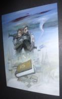 """Affichette """"notre Histoire"""" Bosnie-Herzégovine 1992-1995 - Illustration Enki Bilal - Plakate"""