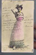 Artiste 1900- Otero  - Photo Reutlinger - Strass Et Rehausse De Couleur - Dance
