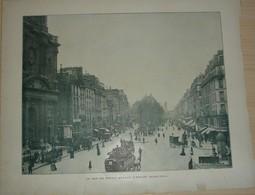 Lamina-Paris-1898-----La Rue De Rivoli Devant L'Eglise Saint-Paul---La Tour Eiffel-- 33 X 27,5 - Places