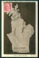 CM-Carte Maximum Card #France-1945 (Yv.N° 716)Marianne De Gandon(3f,rose) Buste Marseillaise,obl.Congrès Versailles 1947 - 1940-49